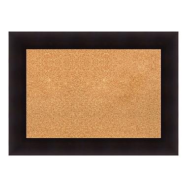 Amanti Art ? Tableau en liège encadré, moyen, espresso Portico
