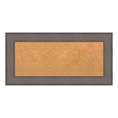 Amanti Art Framed Cork Board Panel, Country Barnwood, 36
