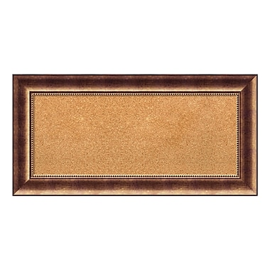 Amanti Art Framed Cork Board Panel, Manhattan Bronze, 36