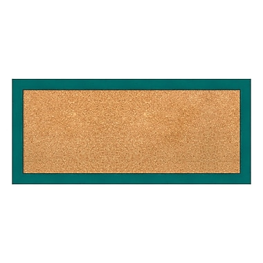 Amanti Art Framed Cork Board Panel, French Teal Rustic, 32