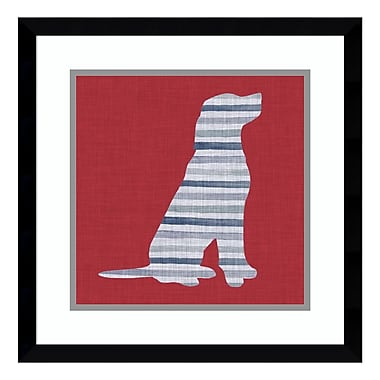 Amanti Art Framed Art Print 'Lakeside Silhouette IV (Dog)' by Grace Popp, 17