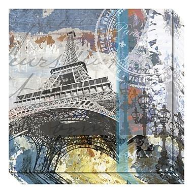 Amanti Art – Toile galerie par Andrew Mellen, Eiffel à Paris, 20 x 20 po (DSW3636958)