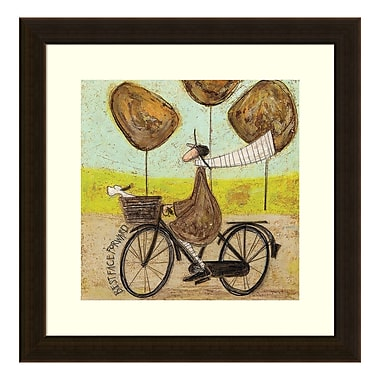Amanti Art Framed Art Print 'Best Face Forward (Bike)' by Sam Toft, 17