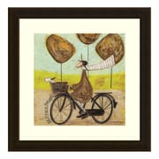 "Amanti Art Framed Art Print 'Best Face Forward (Bike)' by Sam Toft, 17"" x 17"" (DSW3909521)"