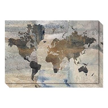 Amanti Art Canvas Art Gallery Wrap 'Stone World (Map)' by Avery Tillmon, 30