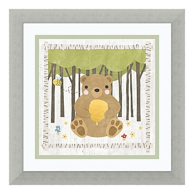 Amanti Art Framed Art Print 'Woodland Hideaway Bear' by Moira Hershey, 14