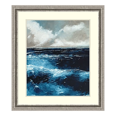 Amanti Art – Imprimé encadré, « Rolling Sea » par Stuart Roy, 29 x 33 po (DSW3909523)