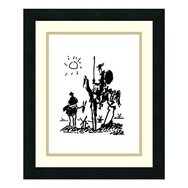Amanti Art Framed Art Print 'Don Quixote' by Pablo Picasso, 16