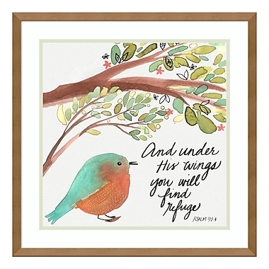 Amanti Art Framed Art Print 'Under His Wings' by Katie Doucette, 21