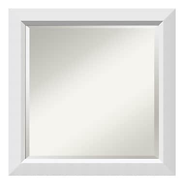 Amanti Art – Miroir mural carré, blanc Blanco, 24 x 24 po (DSW3902239)