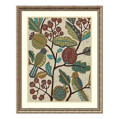 Amanti Art Framed Art Print 'Berry Branch I (Bird)' by Chariklia Zarris, 25