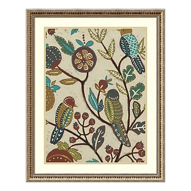 Amanti Art Framed Art Print 'Berry Branch II (Bird)' by Chariklia Zarris, 25