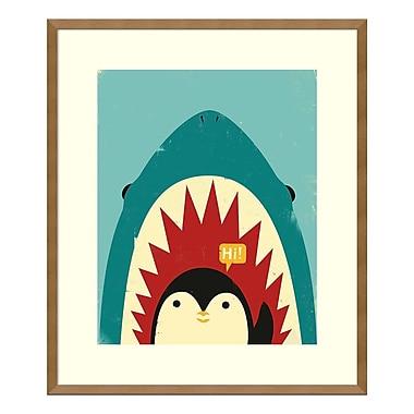 Amanti Art – Imprimé encadré, « Hi! (pingouin) » par Jay Fleck, 23 x 27 po (DSW3909487)