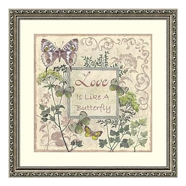 Amanti Art – Imprimé encadré, « Love and Butterflies » par Anita Phillips, 23 x 23 po (DSW3902401)