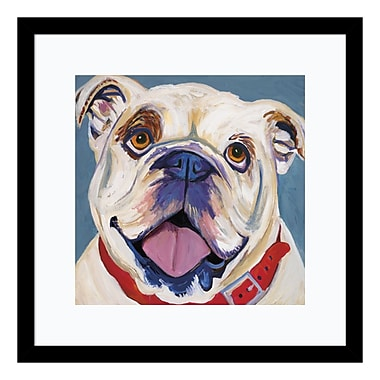 Amanti Art Framed Art Print 'I (Bulldog)' by Kellee Beaudry, 17