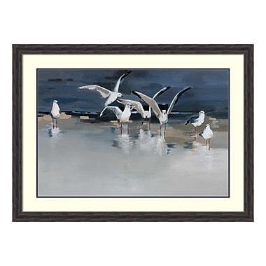 Amanti Art – Reproduction encadrée de « Serenity (Gulls) » par Angela Maritz, 45 x 33 po (DSW3910574)