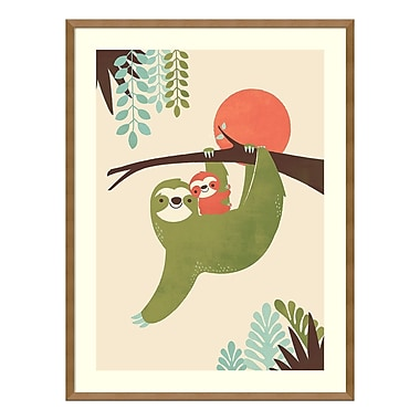 Amanti Art Framed Art Print 'Mama Sloth' by Jay Fleck, 25