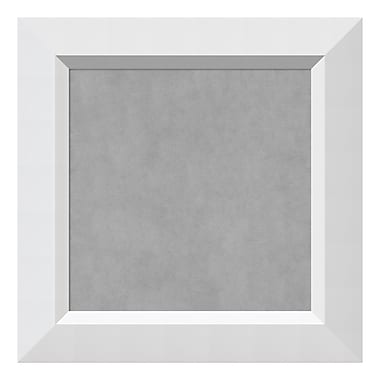 Amanti Art Framed Magnetic Board Small Square, Blanco White, 16