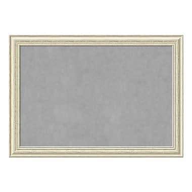 Amanti Art Framed Magnetic Board Extra Large, Country White Wash, 41