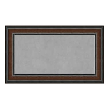 Amanti Art Framed Magnetic Board Medium, Cyprus Walnut, 29