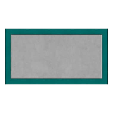 Amanti Art Framed Magnetic Board Medium, French Teal Rustic, 26