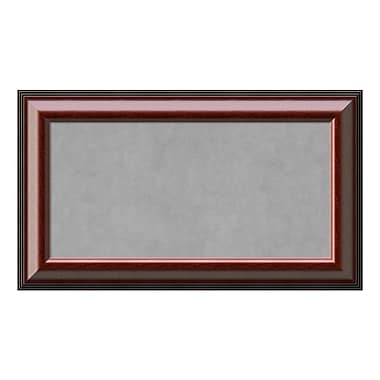 Amanti Art Framed Magnetic Board Medium, Cambridge Mahogany, 29