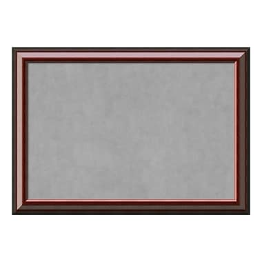 Amanti Art Framed Magnetic Board Extra Large, Cambridge Mahogany, 41