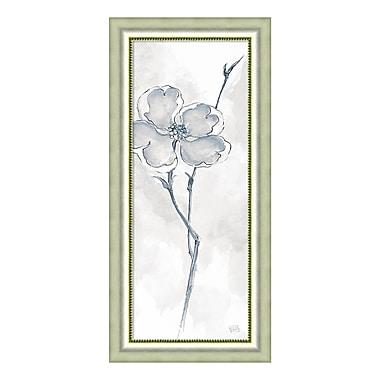 Amanti Art – Impression encadrée par Chris Paschke, « Cornouiller solitaire II gris (floral) », 19 x 40 po (DSW3926488)