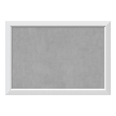 Amanti Art Framed Magnetic Board Extra Large, Blanco White, 40