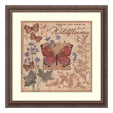 Amanti Art Framed Art Print 'Butterflies and Flowers' by Anita Phillips, 23