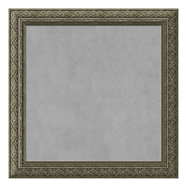 Amanti Art Framed Magnetic Board Small Square, Barcelona Thin Champagne, 14