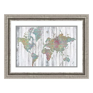 Amanti Art Framed Art Print 'Boho Map II' by Jennifer Goldberger, 25