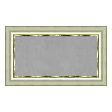Amanti Art Framed Magnetic Board Medium, Vegas Burnished Silver, 29