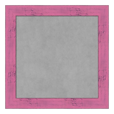 Amanti Art Framed Magnetic Board Small Square, Petticoat Pink Rustic, 14