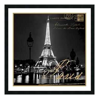 Amanti Art Framed Art Print 'Paris At Night' by Kate Carrigan, 34