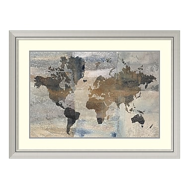 Amanti Art Framed Art Print 'Stone World (Map)' by Avery Tillmon, 40