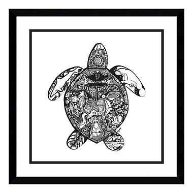 Amanti Art – Impression encadrée « Goodbye Sea Turtle » par Liz Ash, 21 x 21 po (DSW3909511)