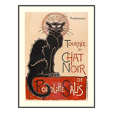 Amanti Art Framed Art Print 'Chat Noir' by Theophile-Alexandre Steinlen, 24