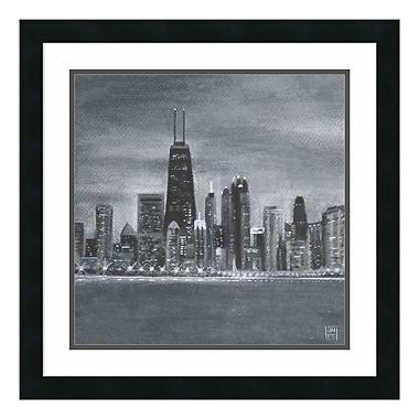 Amanti Art – Impression encadrée « Chicago »par Aubree Perrenoud, 22 x 22 po (DSW3893073)