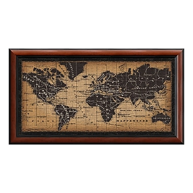 Amanti Art Framed Art Print 'Old World Map' by Pela Studio, 44
