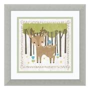 "Amanti Art Framed Art Print 'Woodland Hideaway Deer' by Moira Hershey, 14"" x 14"" (DSW3926480)"