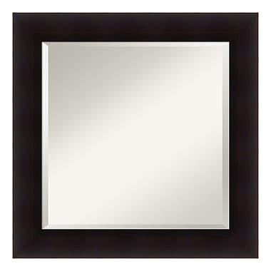 Amanti Art Wall Mirror Square, Portico Espresso, 26