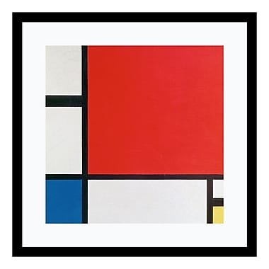 Amanti Art Framed Art Print 'Composition II in Red, Blue, and Yellow' by Piet Mondrian, 21