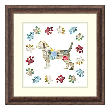 Amanti Art Framed Art Print 'Good Dog IV Sq with Border' by Courtney Prahl, 19