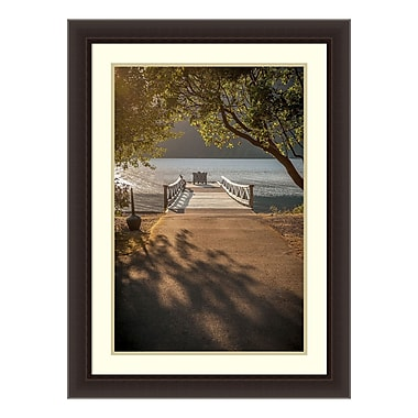 Amanti Art Framed Art Print 'Crescent Lake Pier' by Tim Oldford, 24
