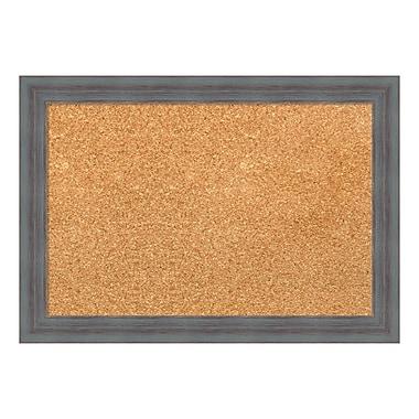 Amanti Art Framed Cork Board Small, Dixie Grey Rustic, 20
