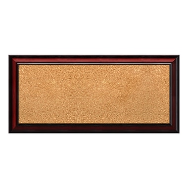 Amanti Art Framed Cork Board Panel, Rubino Cherry Scoop, 33
