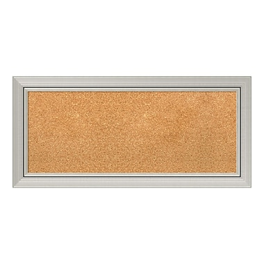 Amanti Art Framed Cork Board Panel, Romano Silver, 34