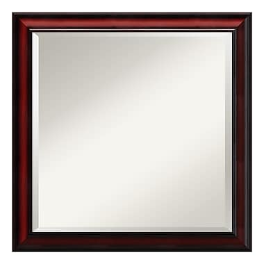 Amanti Art Wall Mirror Square, Rubino Cherry Scoop, 23