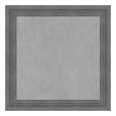 Amanti Art Framed Magnetic Board Small Square, Dixie Grey Rustic, 14